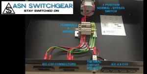 2 Position Normal & Bypass Switch with IEC C20 Connectors and IEC 4xC13